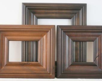 Sizes 8x10 to 12x12 Picture Frame / Knotty Alder Wood / Whistler Style