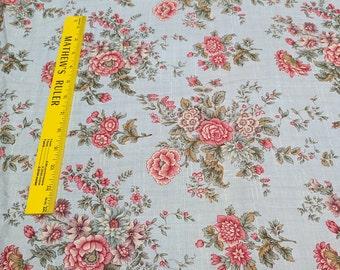 Tour de Fleurs-Blue Cotton Fabric from Henry Glass