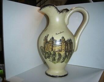 French ALMY Glazed Pottery Pitcher typic fifties