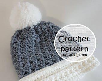 crochet pattern beanie // girls beanie // woman hat //mens beanie // boys beanie // pattern hat // chunky hat // crochet hat //