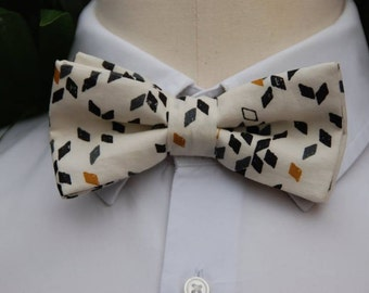 bow tie man, fabric graphics, bowtie, marriage, wedding, BowTie ecru