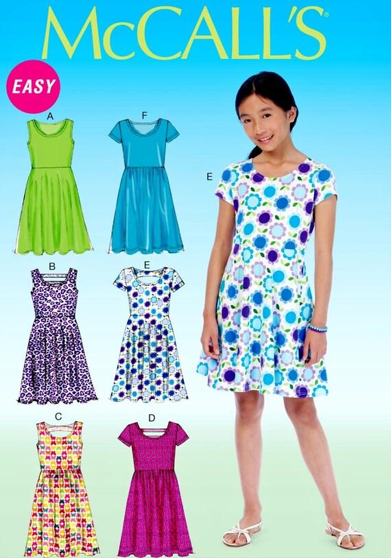 Sewing Pattern Tween Girls\' Dress Pattern, Tween Girls\' Half Size ...