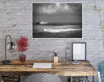 Black and White Pictures, Jamaica Pictures, Beach, Jamaica, Negril, Fine Art, Wall Art, Photos of Jamaica, Wall Decor, Printed, Wall Photos