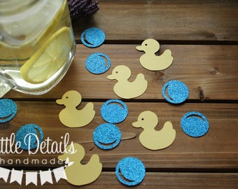 Rubber Duck Table Confetti, Neutral  Rubber Duck Baby Shower