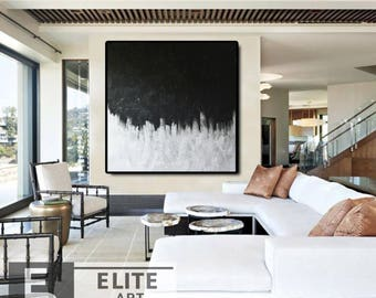 Large Decor Painting, Abstract Painting, Black and White Art, Wall Decor, Large Abstract Contemporary, Painting Abstract, Abstract Art
