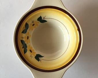 Brown Eyed Susan Chowder Bowl 1940's 1950's Dinnerware Replacement Vernon Kilns Montecito