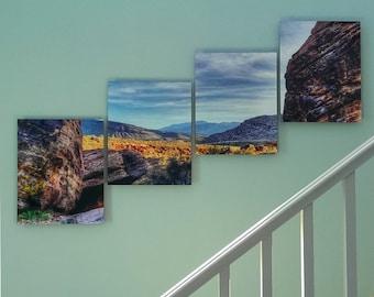 Desert Landscape, Paneled Wall Decor, Red Rock Canyon, 16x20 Aluminum Panels