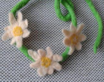 Wool necklace Felting Felt Wool necklases Jewelery Necklaces Handmade Felt
