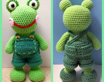 Ribbit Ralph Frog Amigurumi (PDF pattern only, this is not the finished doll)