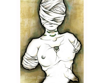 Drawing 'Mascarade Venus', Archival Matte Print