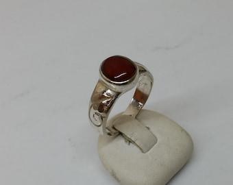 Nostalgic silver ring 925 with carnelian SR173
