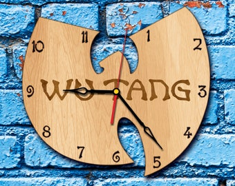 Rap Art clock hip hop decor wutang clan wall clock rap monster wu tang baby wood clock wu tang is for the children