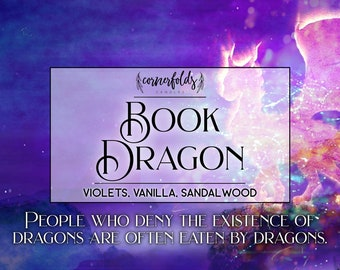 Book Dragon | 4oz. or 8oz. Scented Soy Candle