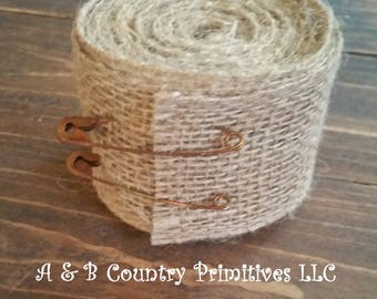 2 inches x 5 Yards Natural Burlap Ribbon, Burlap fabric, Rustic Wedding/Country Wedding Supplies, Country Craft Supplies