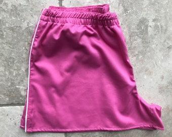 Fucsia piqué boxershorts for woman