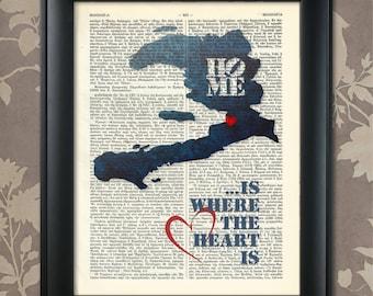 Haiti Art Print, Haiti Print, Haiti Map Art, Haiti Wall Art, Haiti Pride, Haiti Map Print, Haiti Map, Haiti Decor, Haiti Gift, Map of Haiti