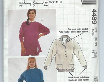 McCall's 4489 Busy Woman's Pattern by Nancy Zieman Misses' Tops - Size Small - Uncut Vintage Pattern