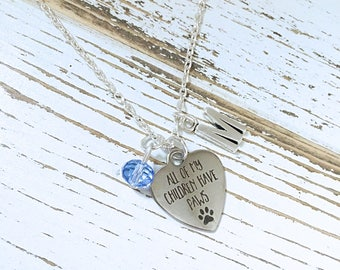 All My Children Have Paws Personalized Necklace