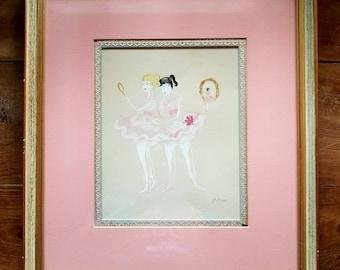 Vintage Ballerina Painting, Ballerina Art, Ballerina Painting, Original Art, Original Painting
