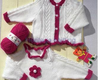 baby / child cardigan and tunic dk knitting pattern 99p pdf