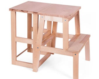 Learning tower to desk (2 to 1)