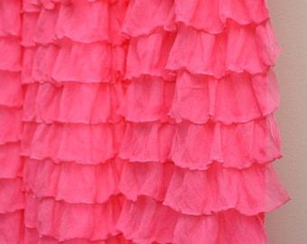 "Bright Hot Pink 2"" Ruffle Fabric"