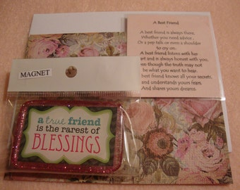 refrig magnet, magnet, magnet gift, blessing magnet, friend decor, friendship magnet,friendship,kitchen gift idea, refrig decor, resin (141)