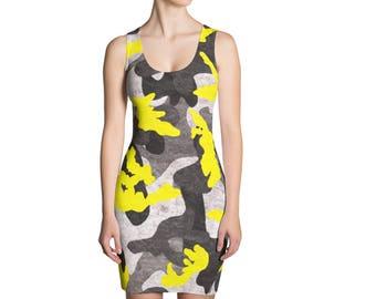 Camo Body Con Dress