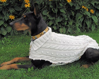 Cotton Sweater TUNDRA hand knit for medium and large Breeds