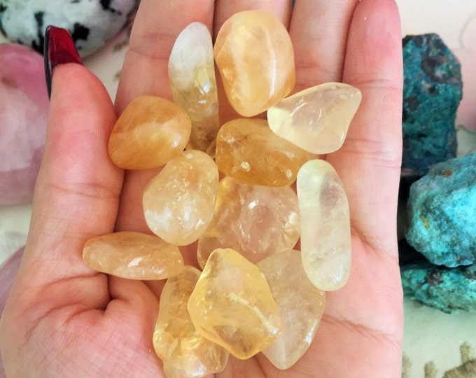 Citrine Tumbled Stone from Brazil / Healing Crystals and Stones