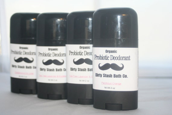 2 oz Natural Probiotic Deodorant with Organic ingredients Lemongrass essential oil