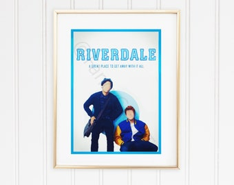 Riverdale Printable Art with Archie and Jughead -INSTANT DOWNLOAD
