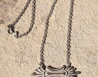 Vintage sterling silver 925 Greek handmade necklace.