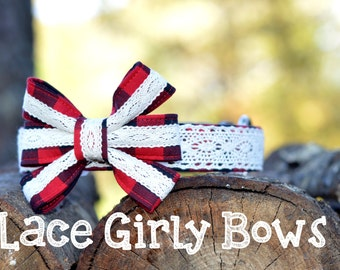 LACE Girly Bow - please note the color/pattern of your bow at checkout!