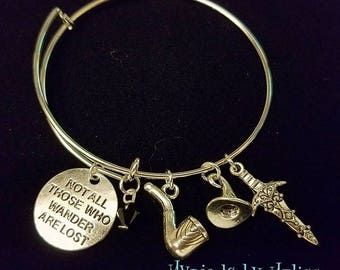 Not all those who wander are lost Bangle