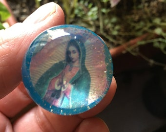 Mexican Virgin of Guadalupe Automatic Gear Shift Knob, Acylic Screw Knob