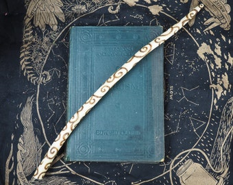 Rare Wych Elm Wood Sprial Wand - For the Goddess - Pagan, Wicca, Witchcraft