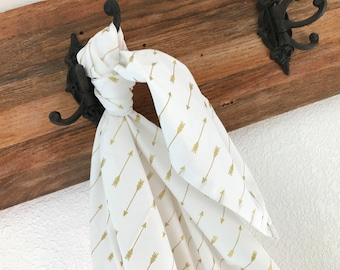 Riley Blake Gold Arrows Blanket Swaddler Light: Receiving Blanket