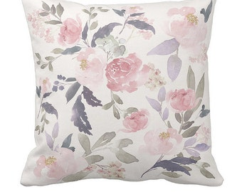 Pillow Cover Floral Pillow Cover Throw Pillow Floral Decorative Pillow Accent Pillow Remy
