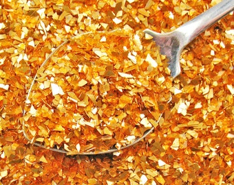 German Glass Glitter COPPER - Shards 60 Grit - Vintage Style - 1 oz.