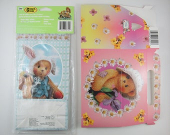 Cherished Teddies Easter Treat Bags with 6 Seals & a Teddy Box Vintage 1998 New in Package new Mellow Smello