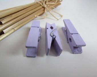 18 clothespins - color memo clip - 3.5 x 0.7 cm - 7 colors - 1.1
