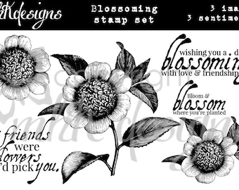 Blossoming Digital Stamp Set
