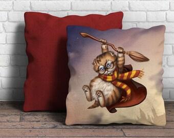 "Harry Potter Kitten Pillow Case - 18"" x 18"""