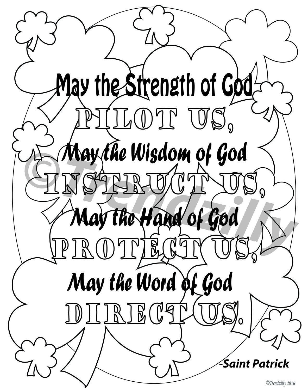 St Patricks Day Activity Pack St Patricks Day St Patrick Coloring Pages St Patrick Holy