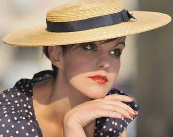 The Lady London Hat - Chapeau de Paille - Formal Wedding Hat  -  Wide Brim - Ascot Hat