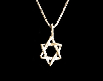 Plaited Rustic Magen David Sterling Silver