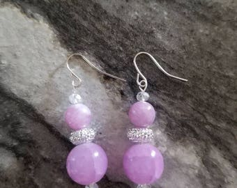 Light Purple Princess Earrings
