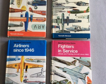 4 vintage aircraft reference books from Blandford Press