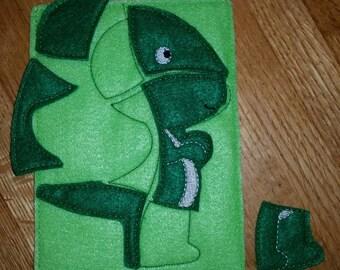 Felt dinosaur puzzle